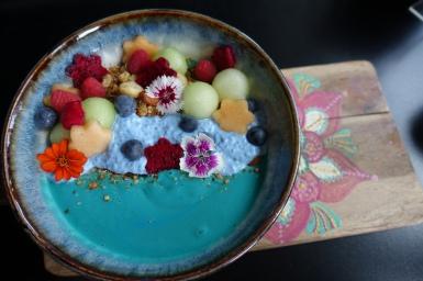 Mermaid smoothie bowl from Cardamom Pod Broadbeach