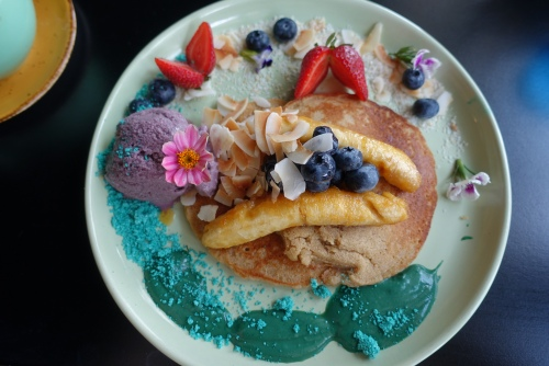 Lime and coconut pancakes from Cardamom Pod Broadbeach