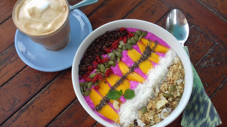 Dragonfruit smoothie bowl from Ginger & Jamu
