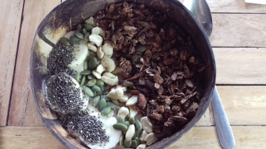 Cacao smoothie bowl from Green Garden