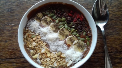 Willy Wonka smoothie bowl from Ginger & Jamu