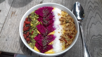 Mango tango smoothie bowl from Ginger & Jamu