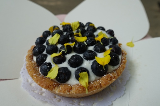 Amazing vegan blueberry tart from La Besneta